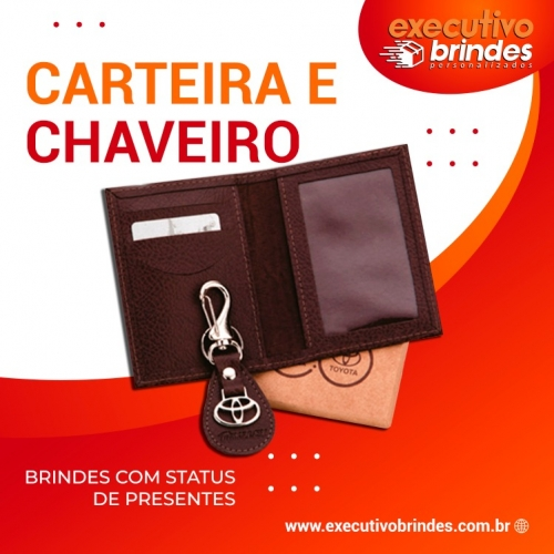 - PORTA DOCUMENTOS COM CHAVEIRO
