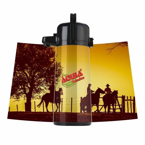 Garrafa Térmica Invicta Inox  de 1,8 litros - Personalizável - Envelopada