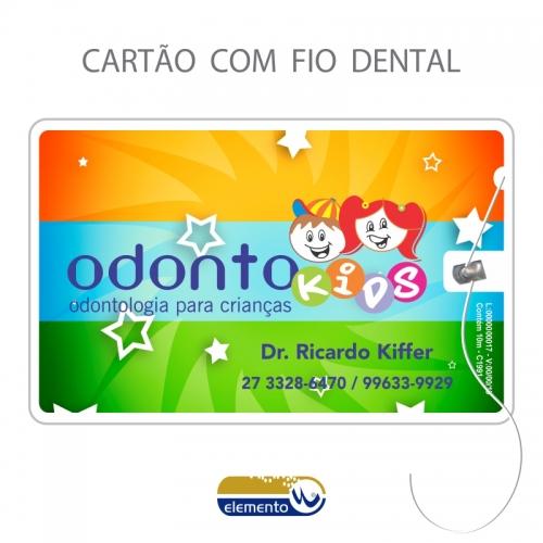 Carrinho - Fiocard - cartão com fio dental - Odontopediatra