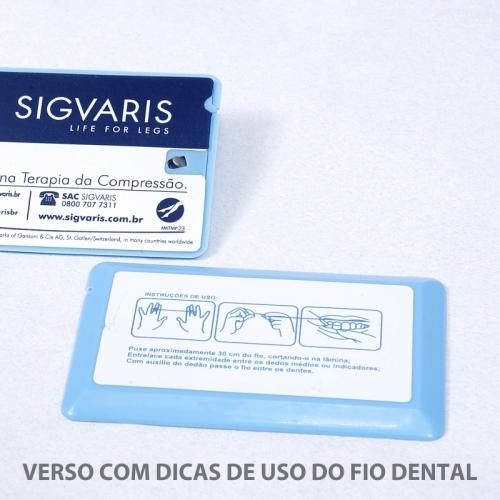 Fiocard - cartão com fio dental - personalização frente e verso