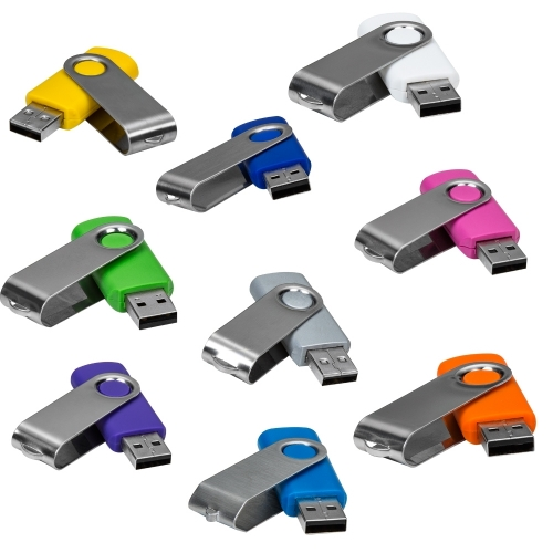 Pen Drive Giratório Metálico 16 GB