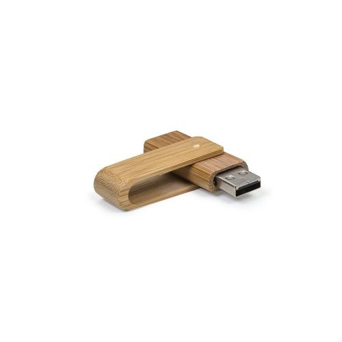 Pen drive personalizado, pen card personalizado, brindes para informática - Pen Drive 4GB Giratório Bambu