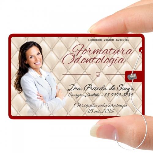 Carrinho - Fiocard - card c/ fio dental - para formandos