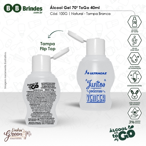 - Álcool Gel 70 ToGo 40ml