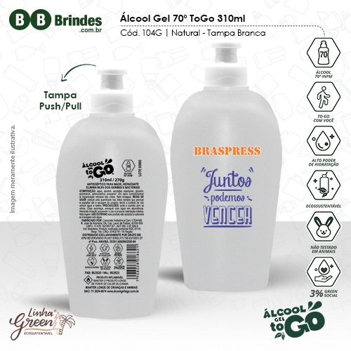 - Álcool Gel 70 ToGo 310ml