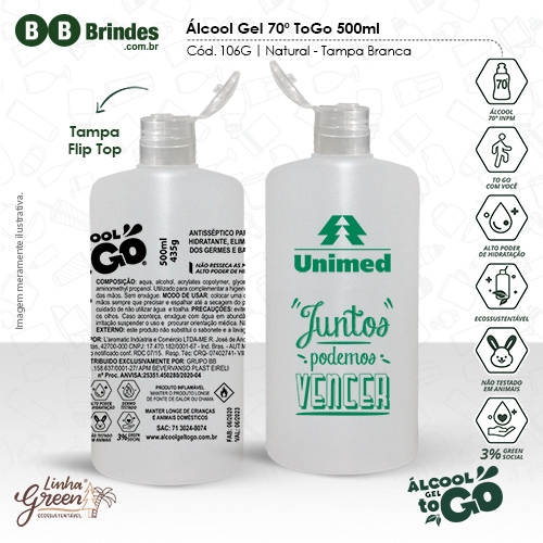 - Álcool Gel 70 ToGo 500ml