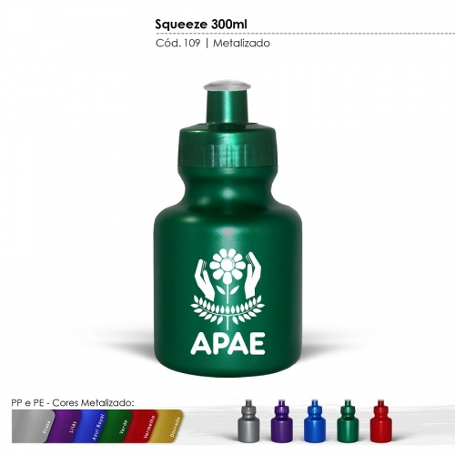Squeeze - Squeeze 300ml Cores Metalizadas
