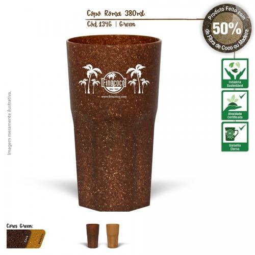 Copo Itália Ecológico 380ml de fibra de casca do coco ou de resíduo de madeira de reflorestamento