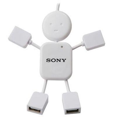 HUB USB 2.0 FORMATO ROBO 4 PORTAS