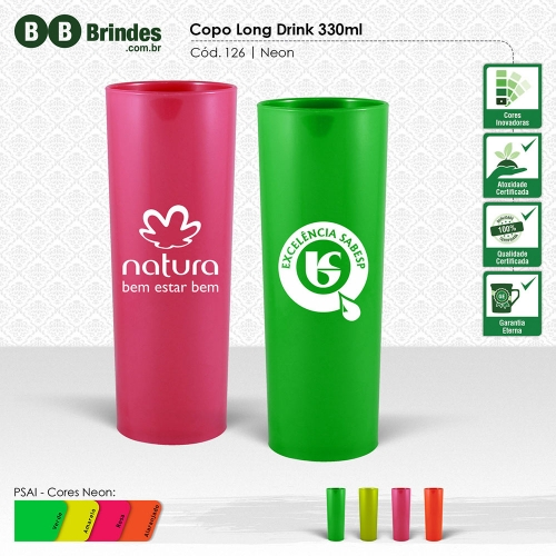 Copos long drink personalizados - COPO LONG DRINK 330mL