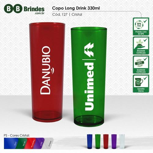 - COPO LONG DRINK CRISTAL 330mL