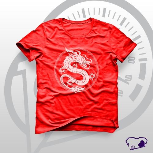 - Camiseta Vermelha em Silkscreen