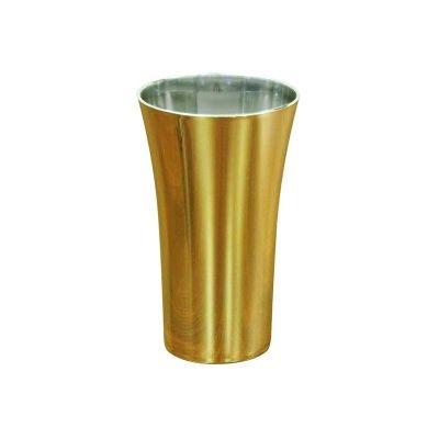 Copos long drink personalizados - Copo Space metalizado dourado