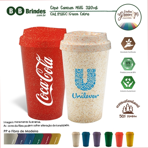 Copos personalizado, Canecas personalizada, Long drink personalizado - Copo Cancun Green Colors MUG 320ml