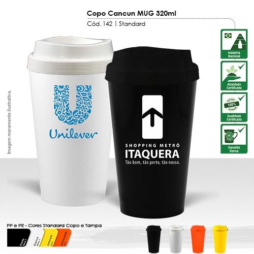 - Copo para Viagem de 320ml, ideal para conservar a bebida quente ou gelada.