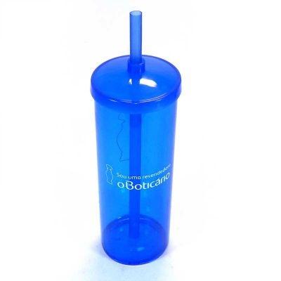 Copos personalizado, Canecas personalizada, Long drink personalizado - Copo longdrink com tampa e canudo