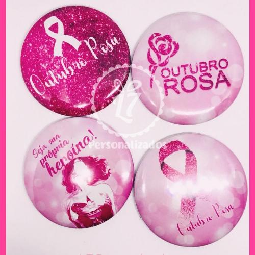 - Espelho Personalizado Outubro Rosa