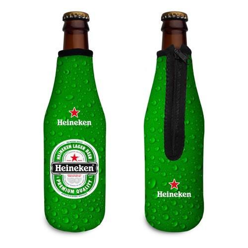 Copos personalizado, Canecas personalizada, Long drink personalizado - Porta Longneck com Zíper em Neoprene Personalizado Brinde Corporativo