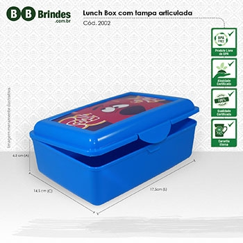 - Marmita Lunch Box com tampa articulada
