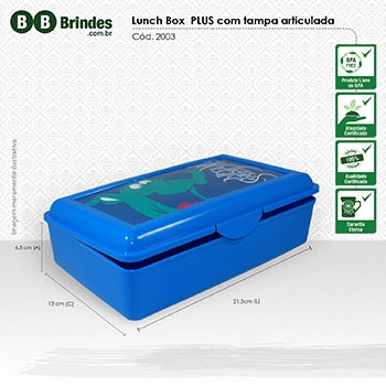 - Marmita Lunch Box PLUS com tampa articulada