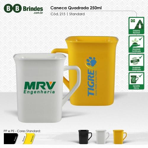 Copos personalizado, Canecas personalizada, Long drink personalizado - Caneca Quadrada 250mL