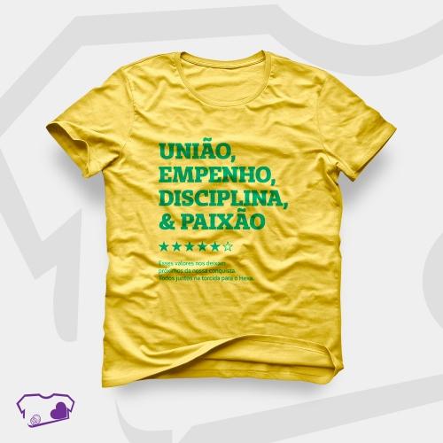 - Camiseta Amarela em Silkscreen