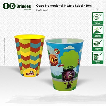 Copo Promocional in Mold Label 450mL