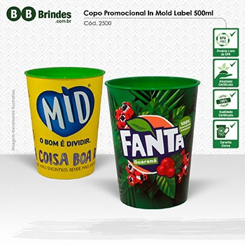 Copo Promocional in Mold Label 500mL