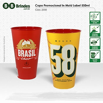 - Copo Promocional in Mold Label 550mL