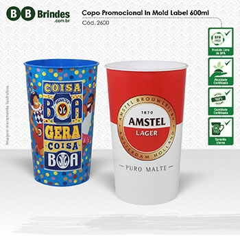 - Copo Promocional in Mold Label 600mL