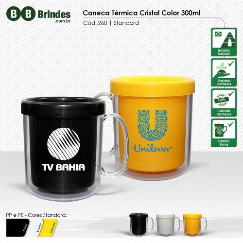 Copos personalizado, Canecas personalizada, Long drink personalizado - Caneca TÉRMICA CRISTAL COLOR 300mL