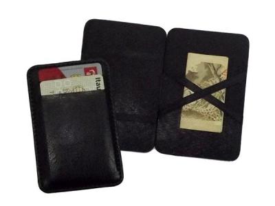 Porta-Cartão Mágico confeccionado em couro sintético, 110 x 72mm.