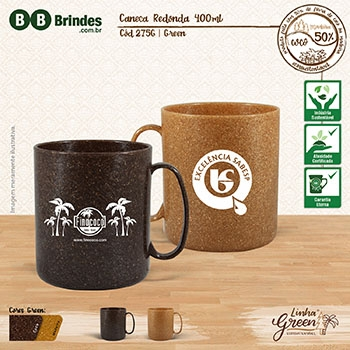 - Caneca redonda 400mL GREEN