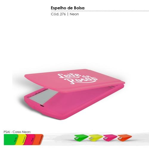 - Espelho de Bolsa de Plástico Resistente com Tampa de Proteção Articulada cores Neon