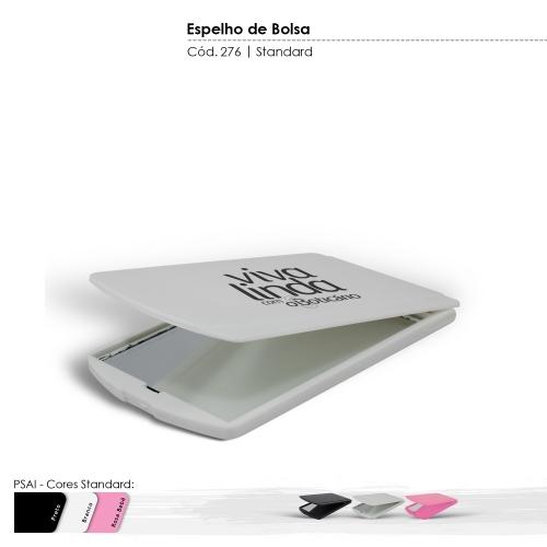 - Espelho de Bolsa produzido com matéria-prima virgem, sem toxinas e com BPA Free. Cores Sólidas