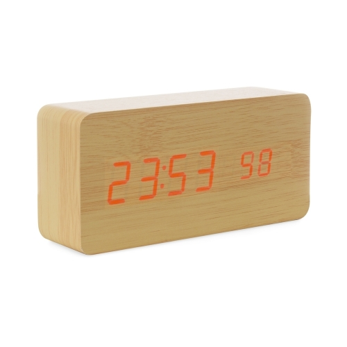 - Relógio de Madeira com Display LED - 18563