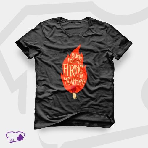 - Camiseta Preta em Silkscreen