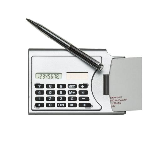 - Calculadora Porta Cartão com caneta
