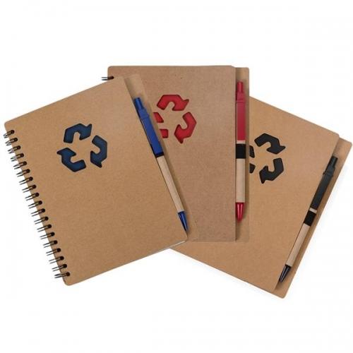 - Bloco de Anotações Ecológico com caneta