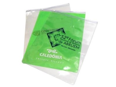Pastas personalizadas - Pasta zip zap vertical, PVC transparente ou colorido, tamanho 26x33cm