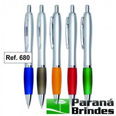 Caneta plástica metal ref. 680