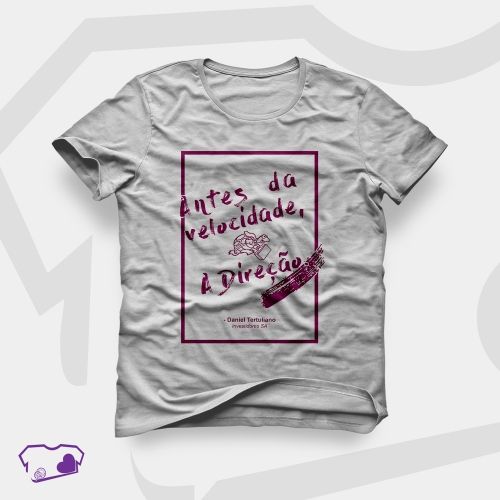 - Camiseta Cinza em Silkscreen