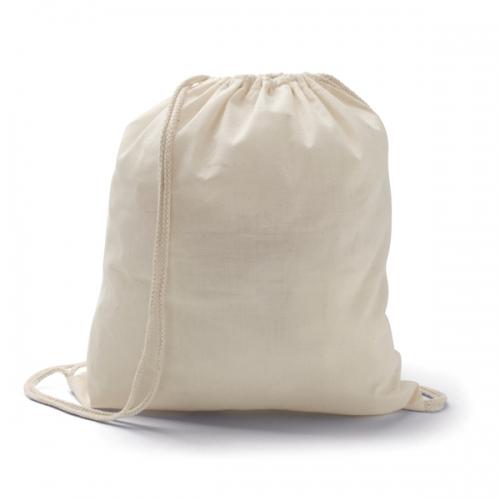 mochila saco em algodão cru