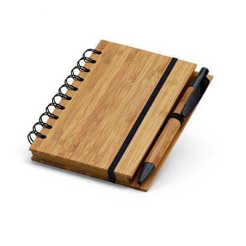 Cadernos personalizados, caderno customizados, capas de cadernos personalizadas - Caderno em bambu