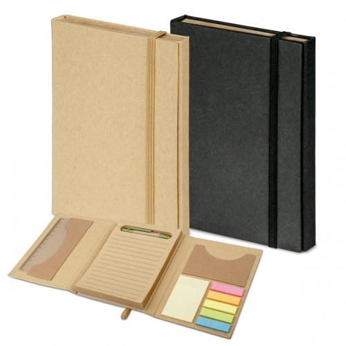 Kit escritório personalizado 5 em 1 . Em papel cartão natural ou preto