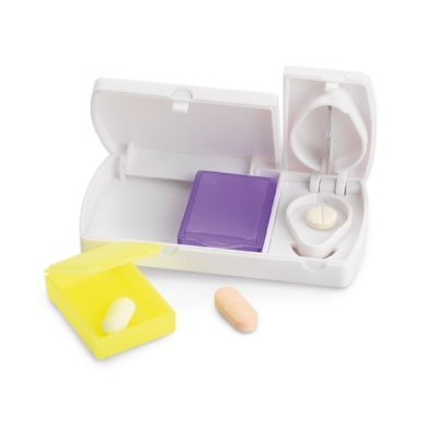 Porta comprimido, porta remédio, porta comprimido mensal, porta remedio - Cortador de Comprimidos
