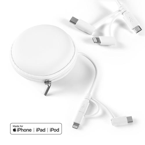 Brindes eletrônicos personalizados - Cabo USB 3 em 1