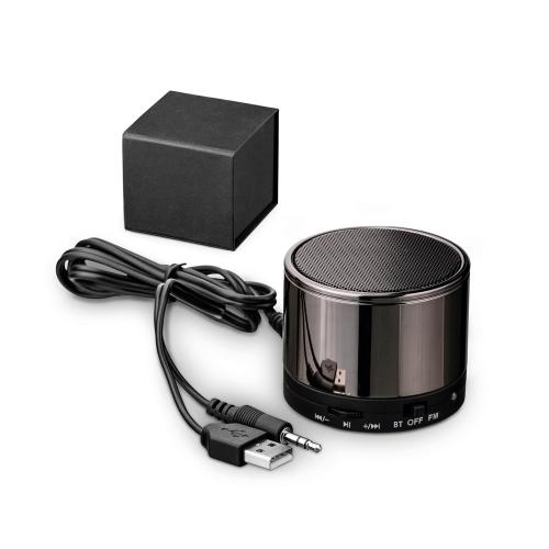 Brindes eletrônicos personalizados - Caixa de som com microfone