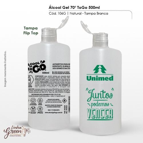 - Álcool em Gel 70% de 500ml para personalizar