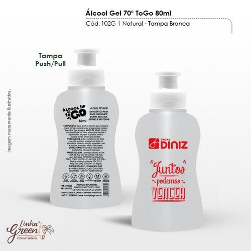 - Álcool em Gel 70% de 80ml regulamentado pela ANVISA personalizado com sua marca